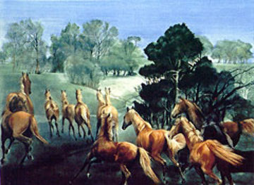 Happy Horses AP 1991 Limited Edition Print - G.H Rothe