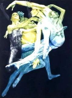 Spectrum 1983 27x33 Original Painting - G.H Rothe