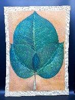 Leaves 1976 42x30 Super Huge Original Painting by G.H Rothe - 1