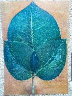 Leaves 1976 42x30 Super Huge Original Painting by G.H Rothe - 2