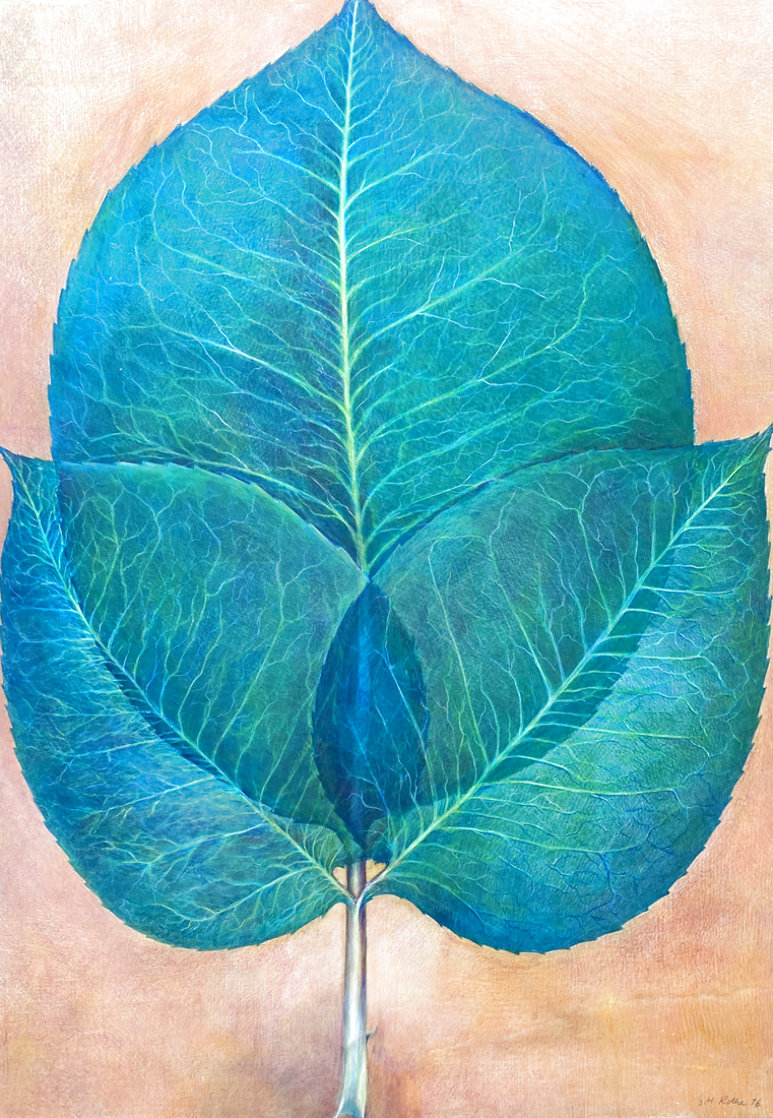 Leaves 1976 42x30 Super Huge Original Painting by G.H Rothe
