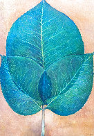 Leaves 1976 42x30 Super Huge Original Painting by G.H Rothe - 0