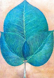 Leaves 1976 42x30 Huge Original Painting - G.H Rothe