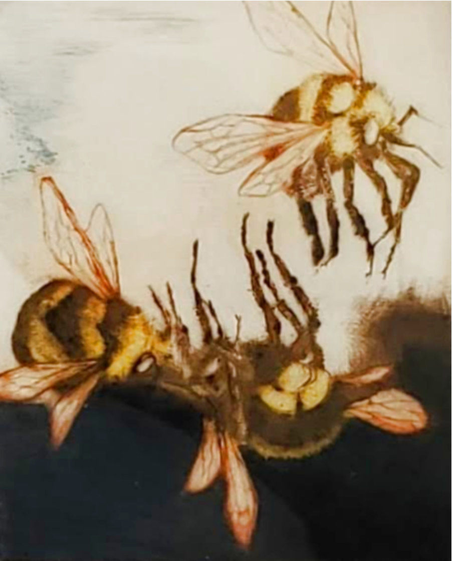 Three Bees 1987 Limited Edition Print by G.H Rothe