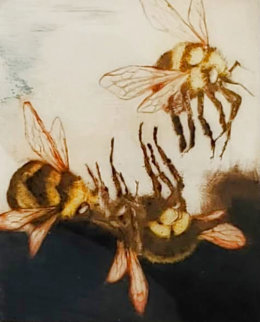 Three Bees 1987 Limited Edition Print - G.H Rothe