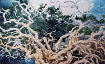 Contemporary Oak Branches Limited Edition Print by G.H Rothe