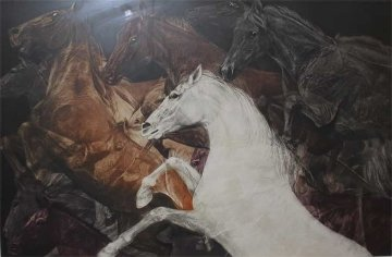 While They Were Running AP 1981 Limited Edition Print by G.H Rothe