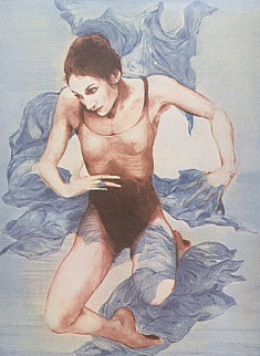 Blue Shawl (Blue Dancer) 1973 Limited Edition Print - G.H Rothe