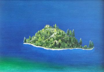 Emerald Bay, Lake Tahoe 1986 23x33 Original Painting by G.H Rothe