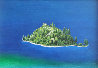 Emerald Bay, Lake Tahoe 1986 23x33 Original Painting by G.H Rothe - 0