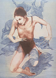Dancer, Blue Shawl 1973 Limited Edition Print by G.H Rothe
