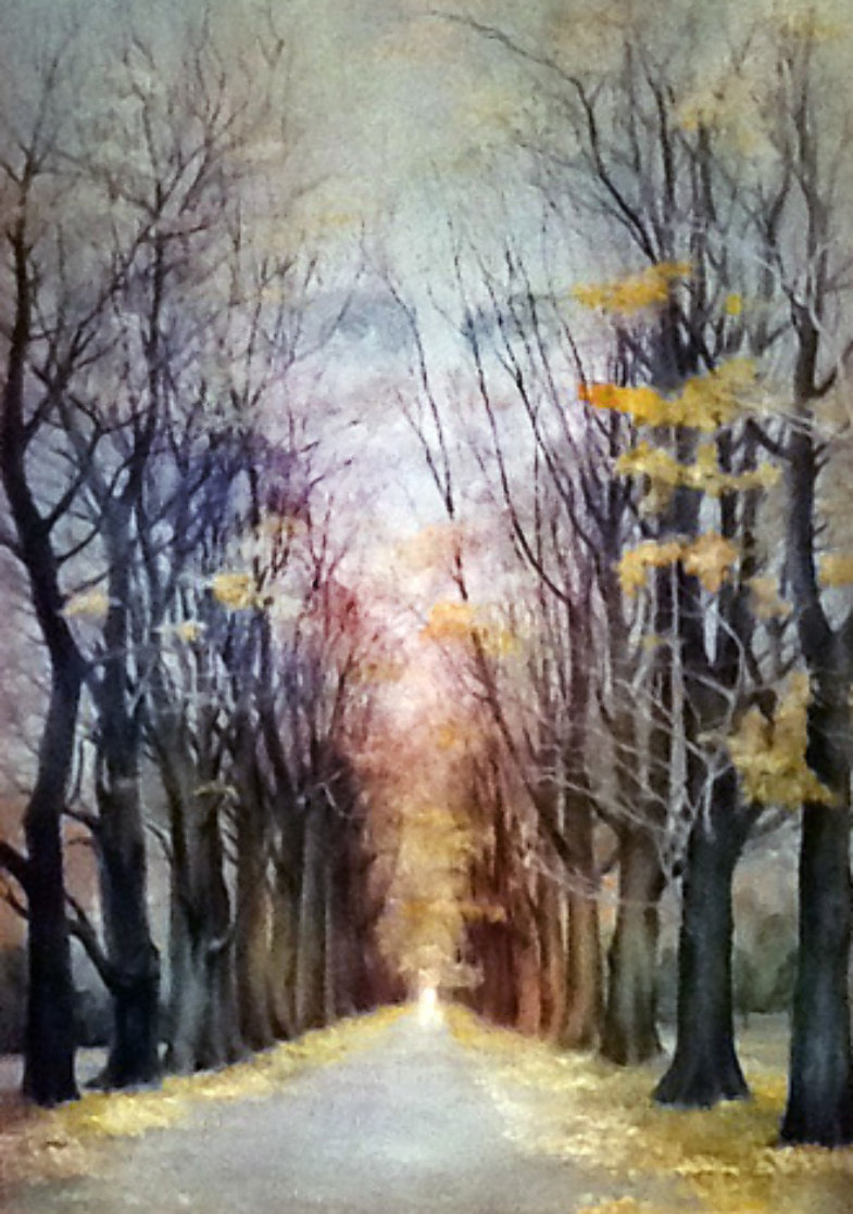 Angel's Road 1977 48x36 Super Huge Original Painting by G.H Rothe