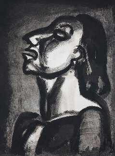His Lawyer, in Hollow Phrases, Proclaims His Total Indifference 1921 Limited Edition Print - Georges Rouault