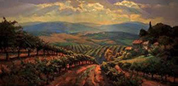 Tuscany Splendor Embellished Limited Edition Print by Leon Roulette