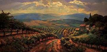 Tuscany Splendor Embellished Limited Edition Print - Leon Roulette
