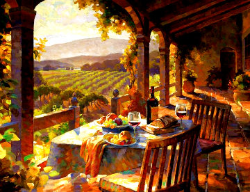 Wine Country Afternoon Limited Edition Print - Leon Roulette