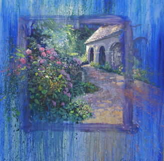 Spring Bouquet 41x41 Original Painting - Leon Roulette