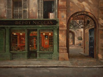 Depot Nicolas 2010 Embellished Limited Edition Print - Leon Roulette