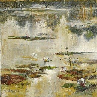 l'Oeil Du Printemps (The Eye of Spring) 2008   32x32 Original Painting - Eric Roux-Fontaine