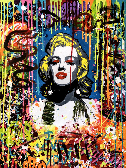 Blonde Bombshell 40x30 Original Painting by Nastaya Rovenskaya