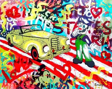 About to Drive 2021 Unique 28x34 Original Painting - Nastaya Rovenskaya