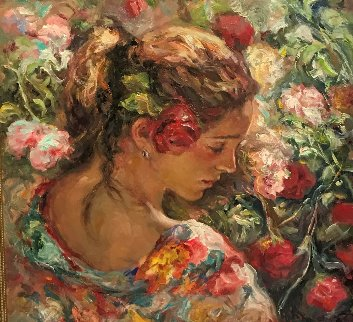 El Rosal 36x36  Huge Original Painting -  Royo