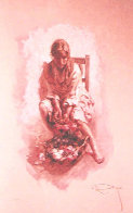 Reposo on Clay Panel 1997 Limited Edition Print by  Royo - 0
