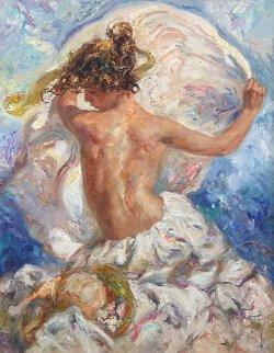 Sobre El Mar  Original Painting -  Royo