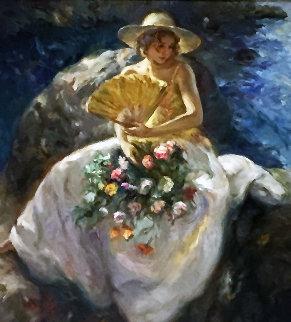 Untitled (Portrait of a Woman) 78x78 Super Huge Original Painting -  Royo