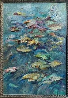 Nenufares 2004 33x27 Original Painting by  Royo