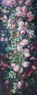 Rama De Un Rosal Lbiza 2004 61x31 Original Painting -  Royo