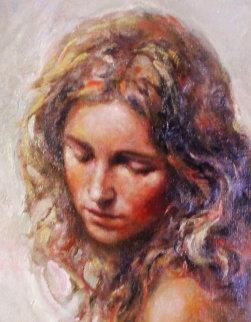 A Solas 2006 26x18 Original Painting -  Royo