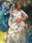 Belleza Junto Al Mar 1996 84x44 in Original Painting -  Royo