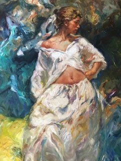 Belleza Junto Al Mar 1996 84x44 in Original Painting by  Royo