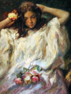 Adorno Con Flores 2004 38x32 Original Painting by  Royo