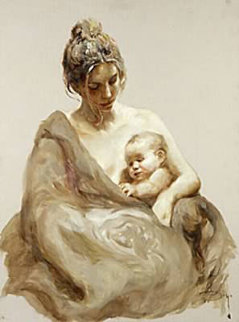 Caricia on Clay Panel 2004 Limited Edition Print by  Royo
