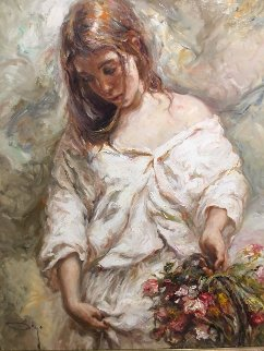 Sola 2001 59x42 Super Huge Original Painting -  Royo