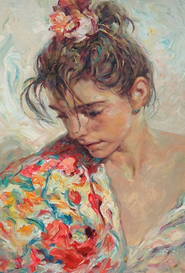 Shawl Suite of 2 Serigraphs  1997 Panel Limited Edition Print by  Royo
