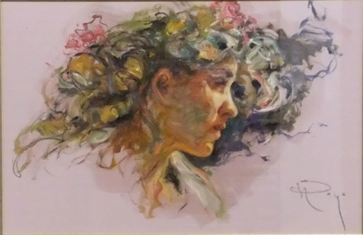Extasis From the Sagittas Museum Collection 32x25 Original Painting by  Royo