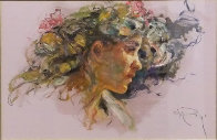 Extasis From the Sagittas Museum Collection 32x25 Original Painting by  Royo - 0