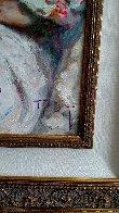 Entre Rosas Y Azaleas 2004 43x38 Super Huge Original Painting by  Royo - 3