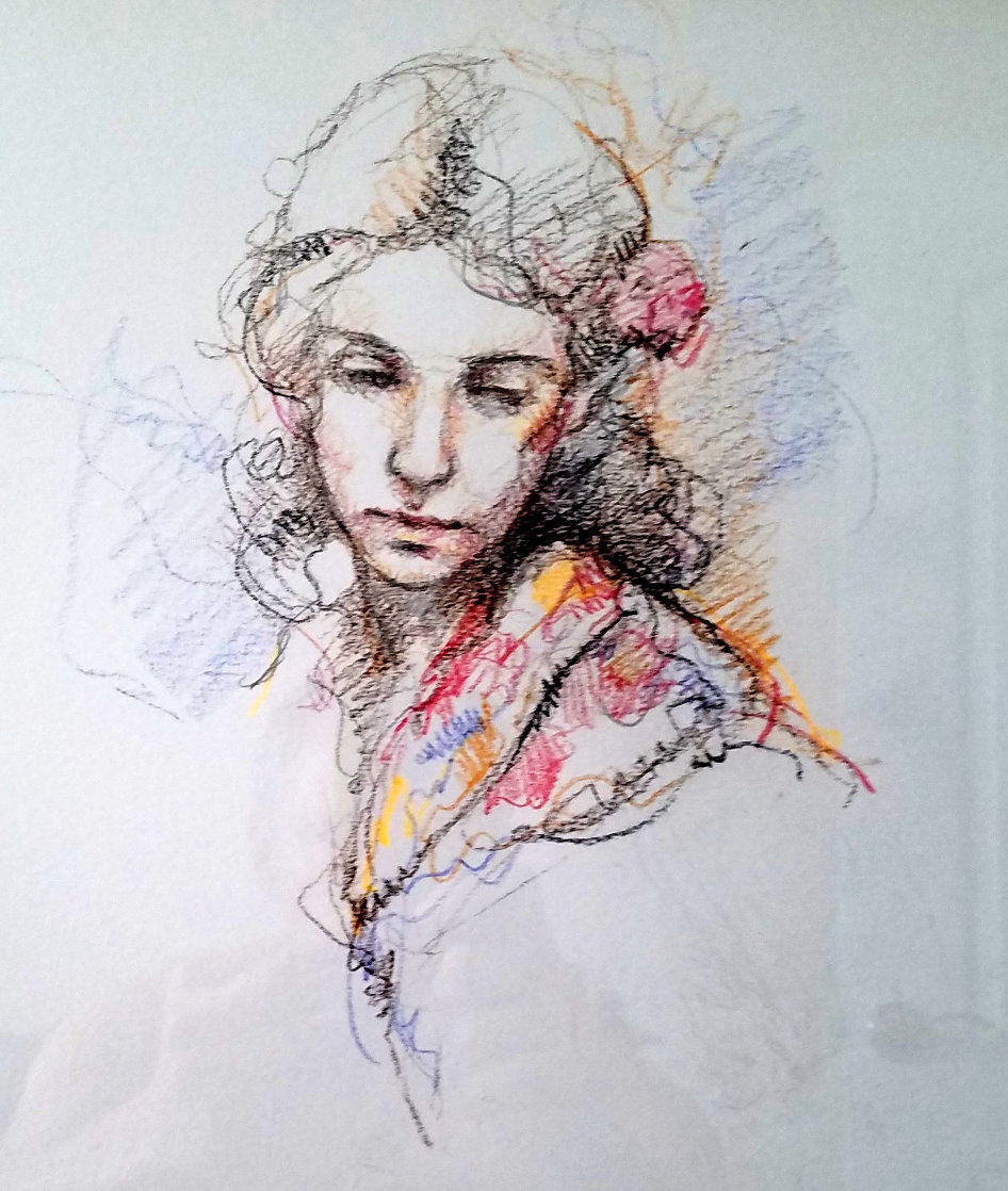 Untitled Portrait 2006 25x26 Works on Paper (not prints) by  Royo