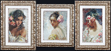 La Perla, Adolescencia, and Estudio Framed Set of 3 on Panel Limited Edition Print -  Royo