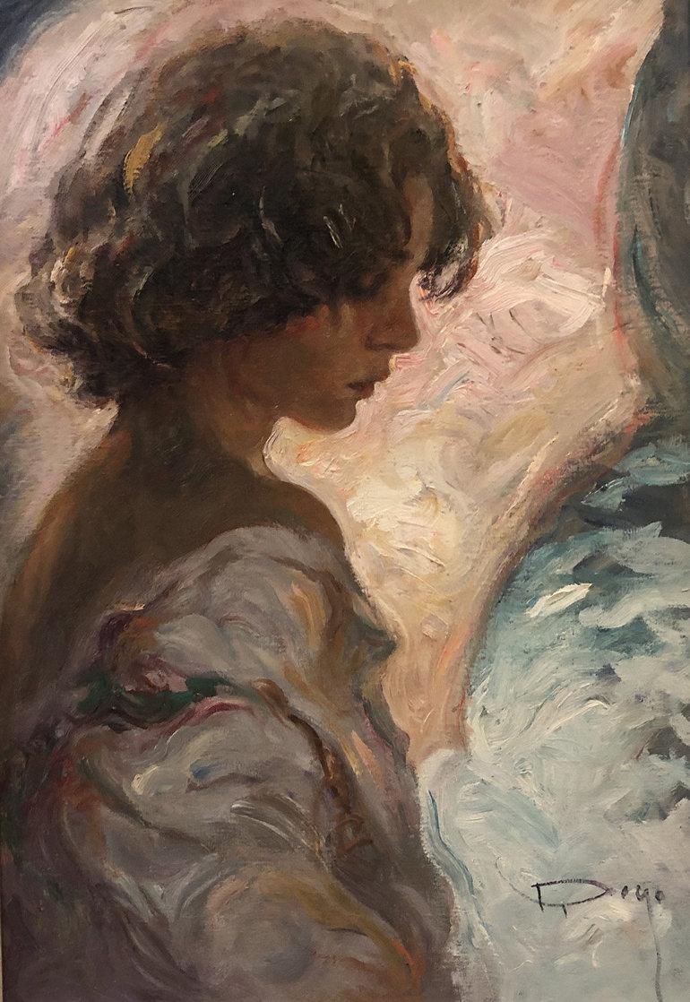 En Rosas 22x15 Original Painting by  Royo