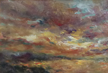 Atarceder (Sunset) 21x29 Original Painting -  Royo