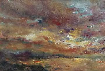 Atarceder (Sunset) 21x29 Original Painting -  Royo