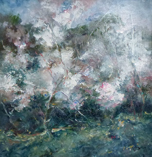 Atmosfera (Almond Trees) 27x27 Original Painting -  Royo