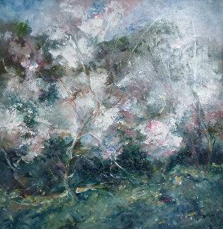 Atmosfera (Almond Trees) 27x27 Original Painting by  Royo