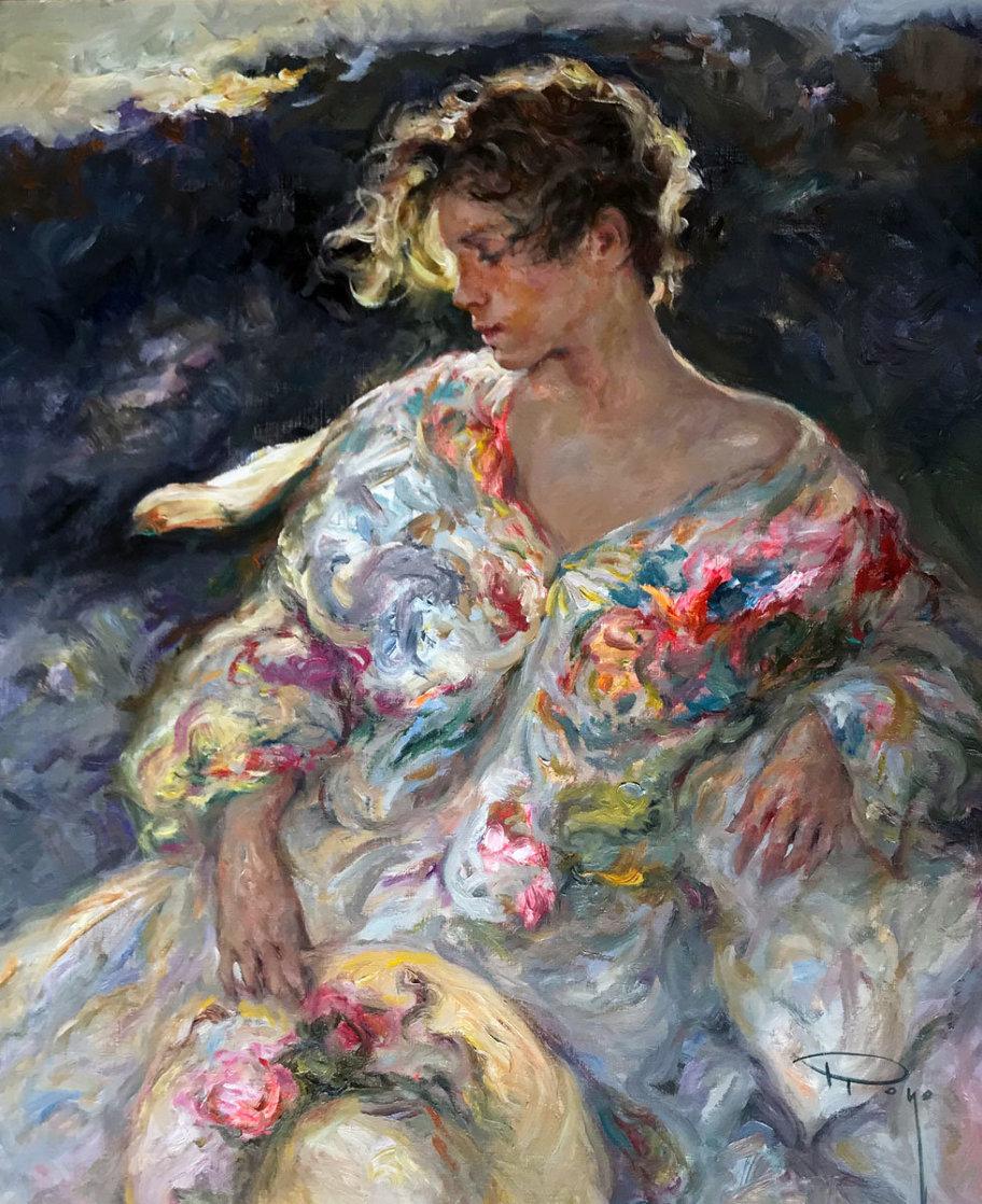 Quietude 2000 32x27 Original Painting by  Royo