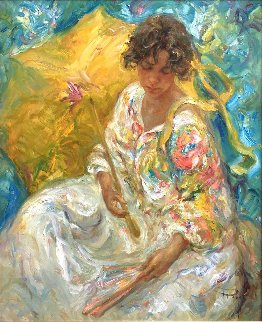 Dia En La Cala (Day in the Cove) 41x36 Super Huge Original Painting -  Royo